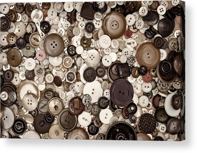 Buttons Acrylic Print featuring the photograph Grandmas Buttons by Scott Norris