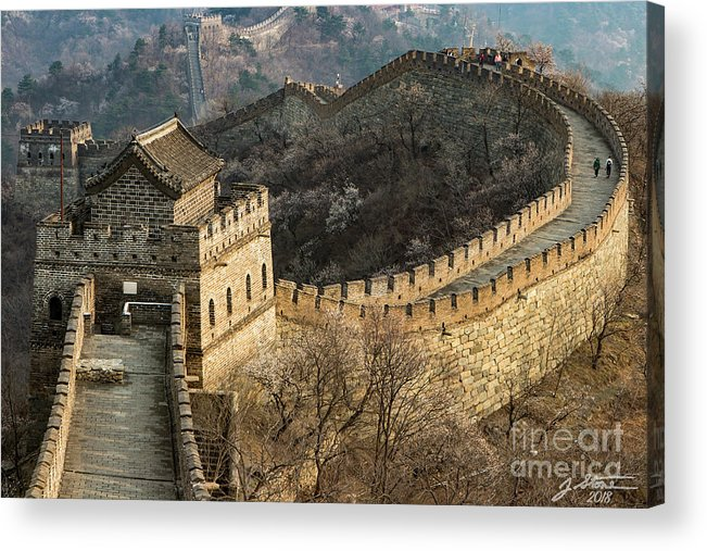 Great Wall Of China Acrylic Print featuring the photograph Great Wall #1 by Jeffrey Stone