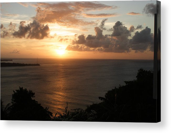 Grenada Acrylic Print featuring the photograph Grenadian Sunset I by Jean Macaluso