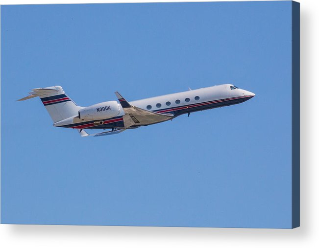 Gulfstream Acrylic Print featuring the photograph Gulfstream GV Private Jet by Dart and Suze Humeston