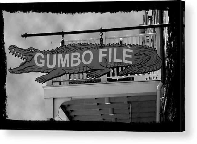 New Orleans Acrylic Print featuring the photograph Gumbo File by Linda Kish