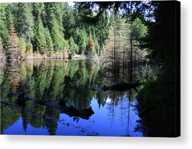 Landscape Acrylic Print featuring the photograph Heaven and Heaven by Alan Rutherford