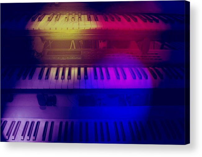 Keyboards Acrylic Print featuring the photograph In The Spot Light by Linda Sannuti