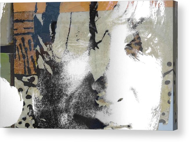 The Beatles Acrylic Print featuring the digital art John Lennon - In My Life by Paul Lovering