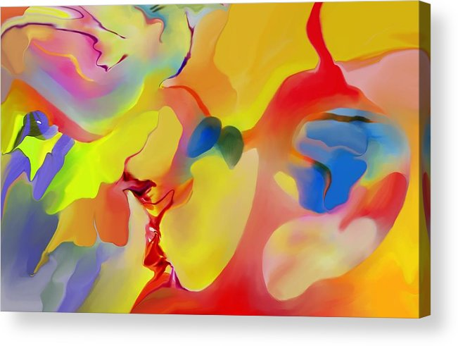 Abstact Acrylic Print featuring the digital art Joy And Imagination by Peter Shor