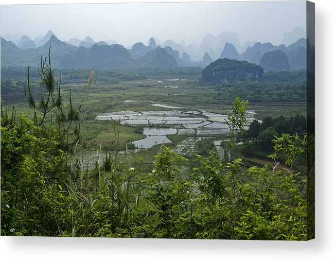 Asia Acrylic Print featuring the photograph Karst Landscape of Guangxi by Michele Burgess