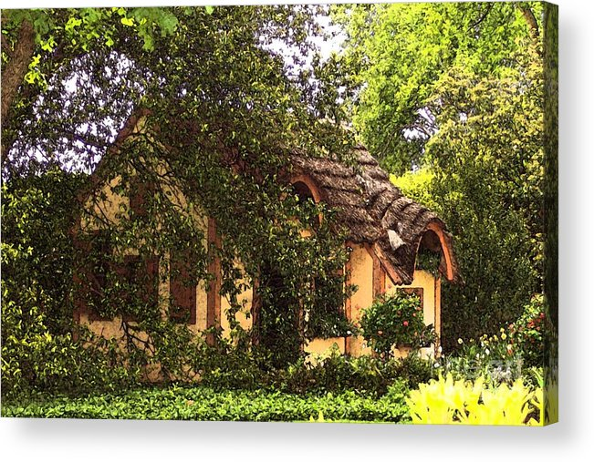 Cottage Acrylic Print featuring the photograph La Maison by Debbi Granruth