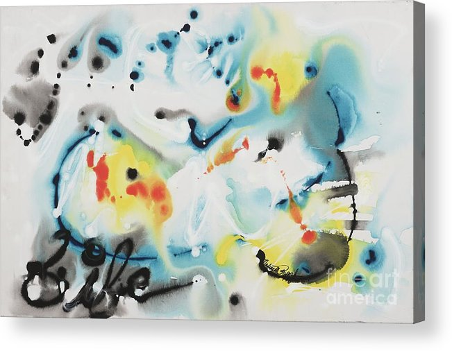 Life Acrylic Print featuring the painting Life by Nadine Rippelmeyer