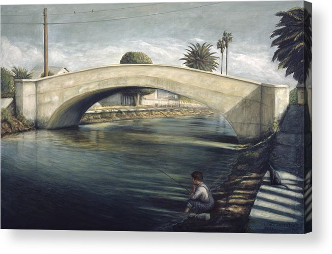 Venice Acrylic Print featuring the painting Linnie Canel Venice by Lance Anderson