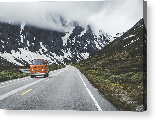 Hippy German Car Acrylic Print featuring the photograph Living the dream by Aldona Pivoriene