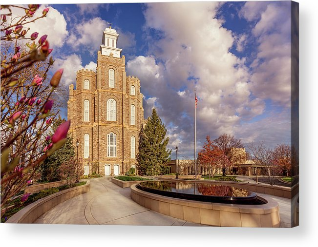 Logan Utah Temple Acrylic Print featuring the photograph Logan Utah Temple in Spring by Tausha Schumann