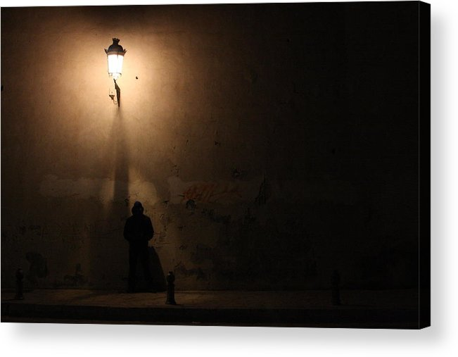 Man Acrylic Print featuring the digital art Man Stands Alone by Jason Hochman
