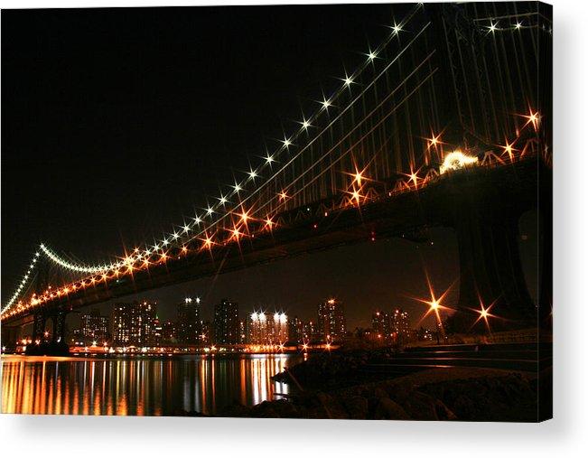 New York City Acrylic Print featuring the photograph Manhattan Bridge by Jason Hochman