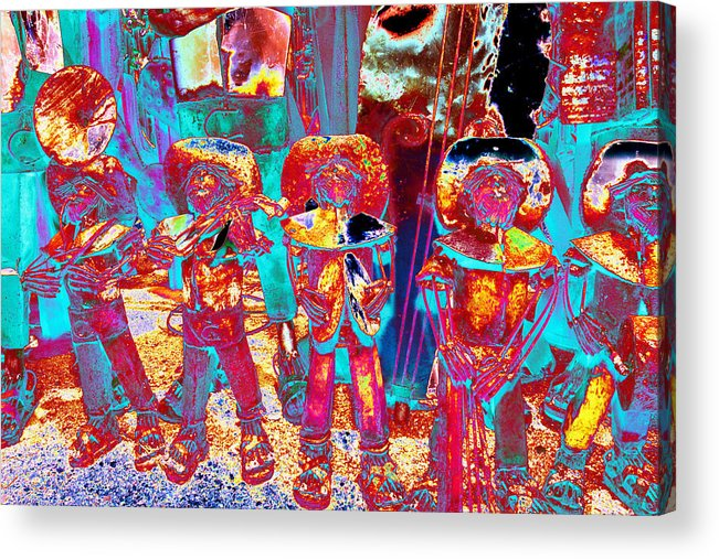 Mariachi Acrylic Print featuring the photograph Mariachi Abstract by Richard Henne