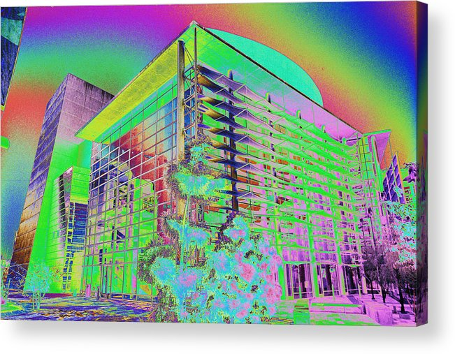 Psychedelic Acrylic Print featuring the photograph Mesa Art Center by Richard Henne