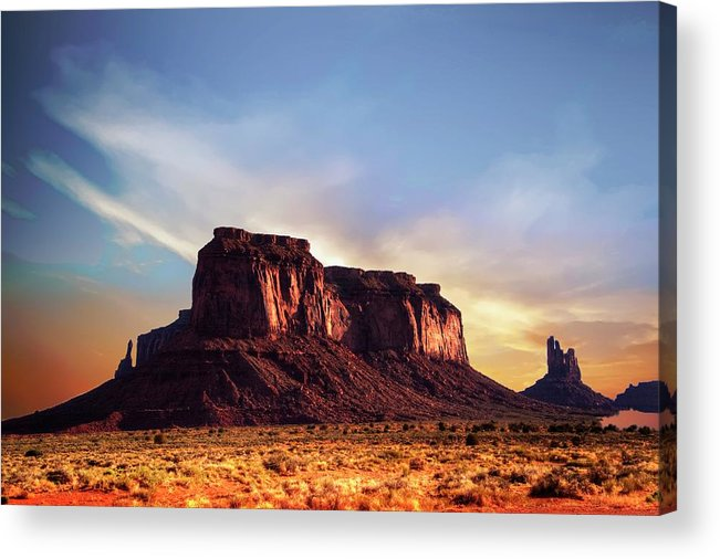 Mesa Acrylic Print featuring the photograph Monument formations by Roy Nierdieck