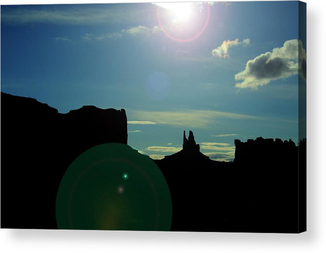Monument Valley Acrylic Print featuring the photograph Monument Valley silhouette by Roy Nierdieck