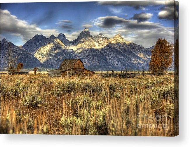 Seasons Acrylic Print featuring the photograph Mormons Row Barn by Dennis Hammer