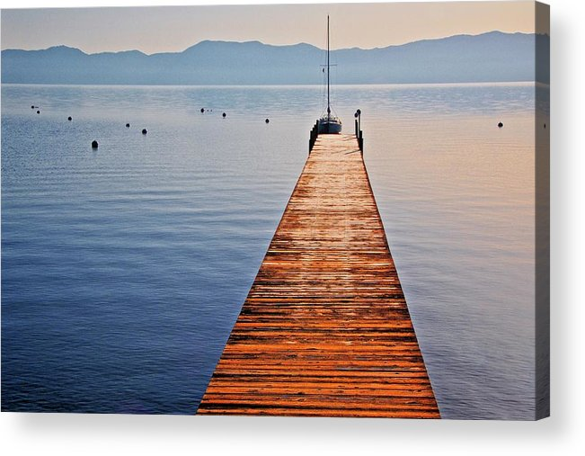 Nature Acrylic Print featuring the photograph Morning Frost, Lake Tahoe, California by Zayne Diamond Photographic