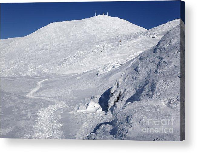 White Mountains Acrylic Print featuring the photograph Mount Washington - White Mountain New Hampshire USA Winter by Erin Paul Donovan