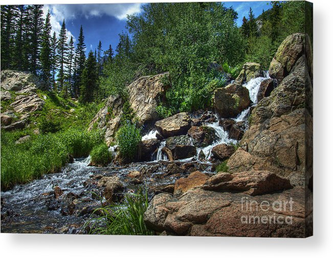 Landscape Acrylic Print featuring the photograph Mountain Stream 3 by Pete Hellmann