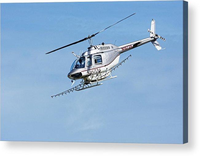 Darin Volpe Aerospace Acrylic Print featuring the photograph N16726 -- Bell 206b Jetranger IIi In Templeton, California by Darin Volpe