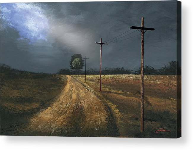 Harold Shull Acrylic Print featuring the painting Narrow Is The Road by Harold Shull