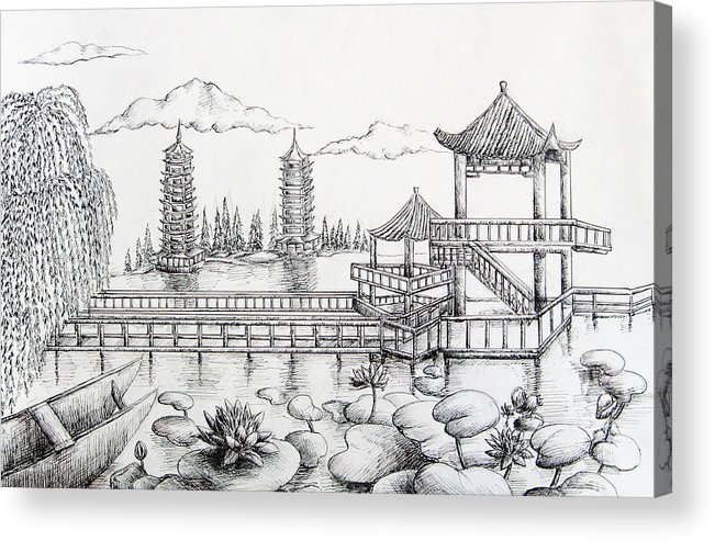 Natural Scenery In China Acrylic Print By Boya L