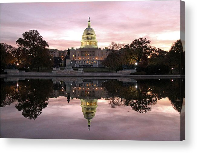 Capitol Acrylic Print featuring the photograph Necessity of Reflection by Mitch Cat