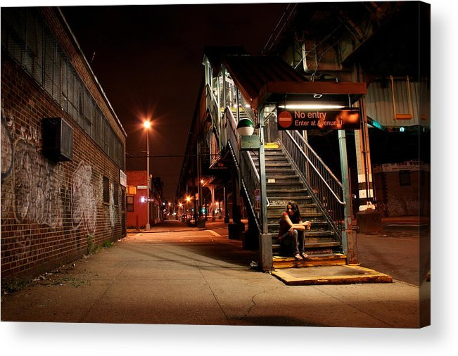 Train Station Acrylic Print featuring the photograph No Entry by Jason Hochman