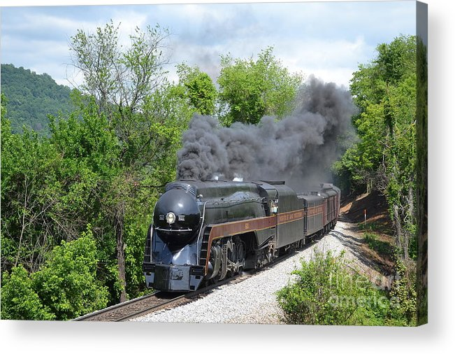 611 Acrylic Print featuring the photograph Norfolk and Western Class J #611 by Steve Gass