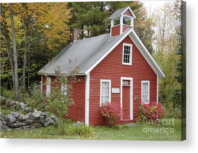 New Hampshire Acrylic Print featuring the photograph North District School House - Dorchester New Hampshire by Erin Paul Donovan