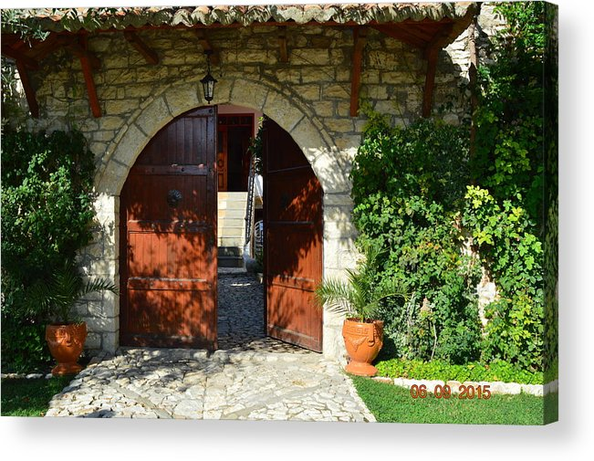 Acrylic Print featuring the photograph Old House Door by Nuri Osmani