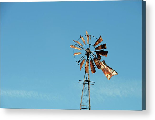 Windmill Acrylic Print featuring the photograph Old Rusty by David Arment