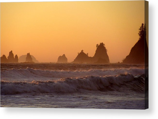 Nautre Acrylic Print featuring the photograph Olympic Sunset by Ty Nichols