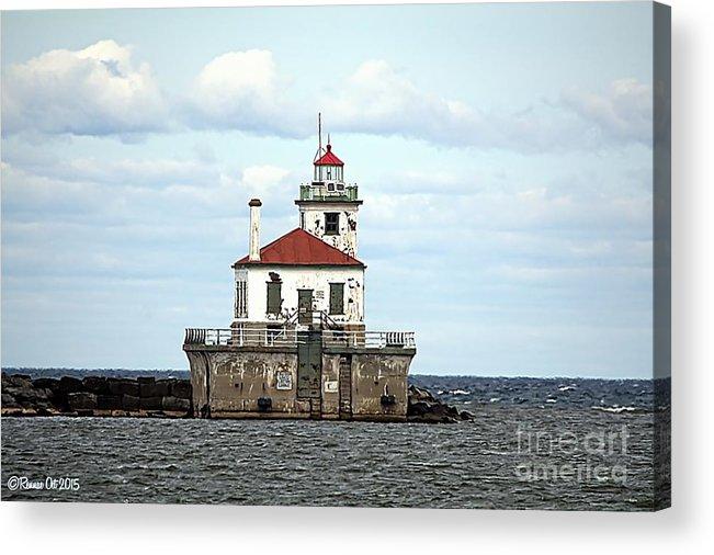 Lake Ontario Acrylic Print featuring the photograph Oswego NY Lighthouse by Rennae Christman