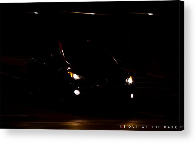 Car Acrylic Print featuring the photograph Out of the Dark by Jonathan Ellis Keys