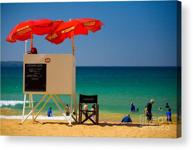 Palm Beach Sun Sea Sky Beach Umbrellas Acrylic Print featuring the photograph Palm Beach dreaming by Sheila Smart Fine Art Photography