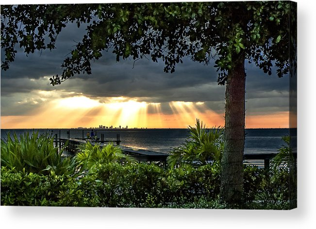 Sunset Acrylic Print featuring the photograph Paradise Found by Norman Johnson