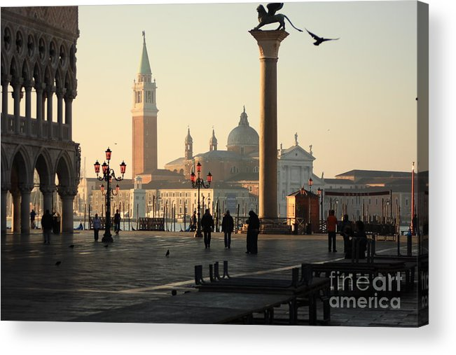 Venice Acrylic Print featuring the photograph Piazzetta San Marco in Venice in the Morning by Michael Henderson