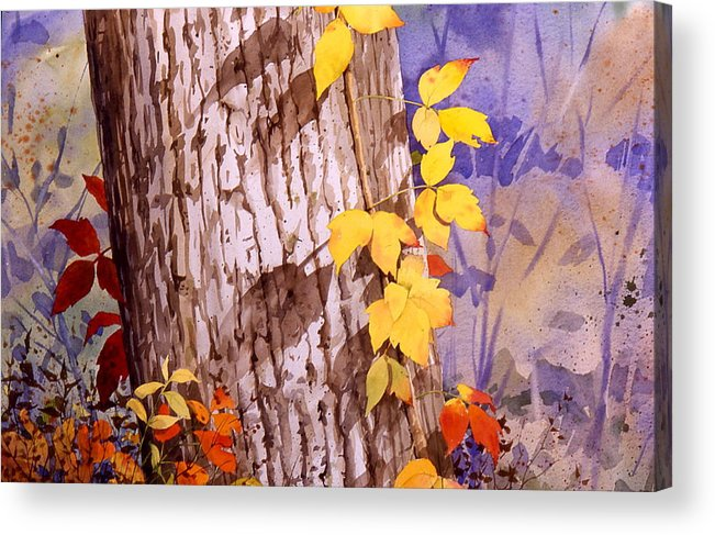 Poison Ivy Acrylic Print featuring the painting Poisonous Beauty by Faye Ziegler