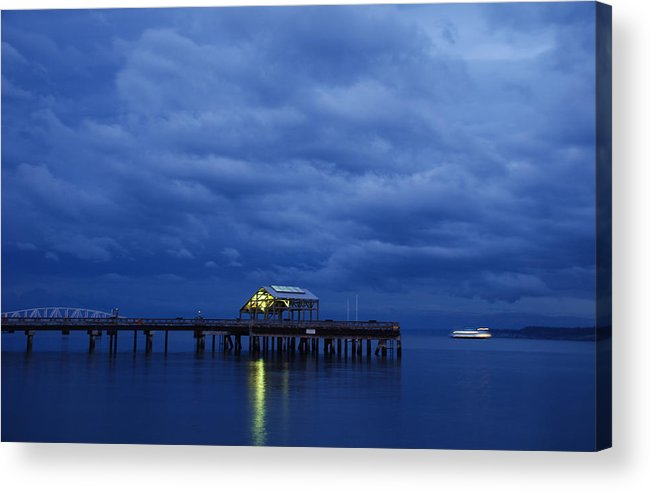 Port Townsend Acrylic Print featuring the photograph Port Townsend Ferry by Alasdair Turner