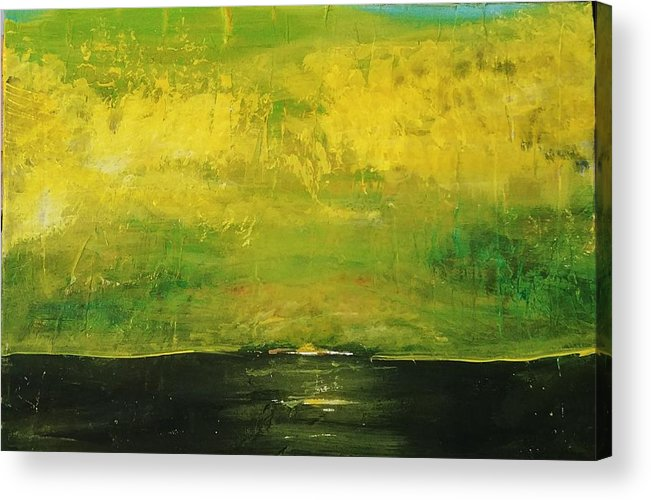 Country Acrylic Print featuring the painting Prarie at Sunrise by J Bauer