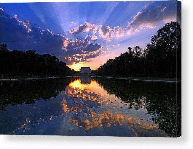 Lincoln Memorial Acrylic Print featuring the photograph Preservation of the Spirit by Mitch Cat