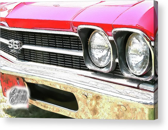 Cars Acrylic Print featuring the digital art Ps Color 8696 by Shellie Midgette