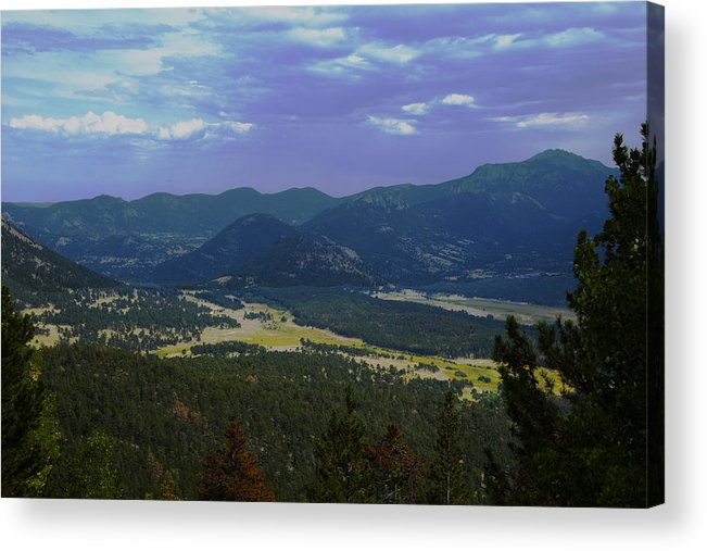 Rocky Mountains Acrylic Print featuring the photograph Purple Mountain's Majesty by Richard Henne
