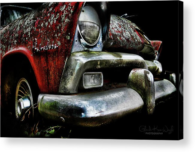 Red Plymouth Acrylic Print featuring the photograph Red Plymouth Belvedere by Glenda Wright