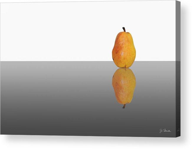 Pear Acrylic Print featuring the photograph Reflected Pear by Joe Bonita