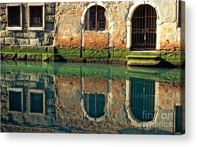 Venice Acrylic Print featuring the photograph Reflection on Canal in Venice by Michael Henderson