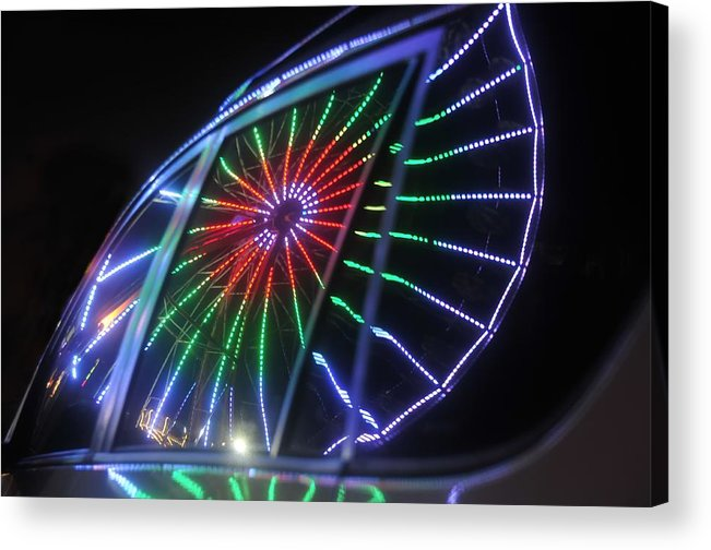 Fair Acrylic Print featuring the photograph Reflections Of Ferris by David Lee Thompson